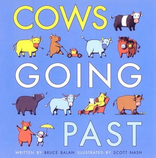 Cows Going Past by Bruce Balan