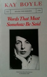 Words That Must Somehow Be Said: Selected Essays 1927-1984