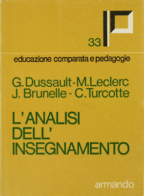 L'Analisi dell'insegnamento by G. Dussault, M. Leclerc, J....