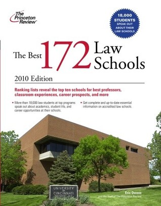 The Best 172 Law Schools, 2010 Edition by Princeton Review