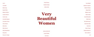 Very Beautiful Women by Ana Carrete