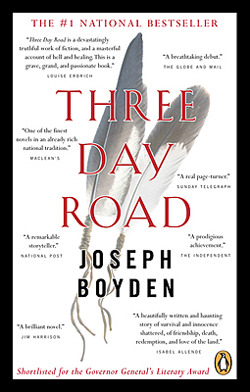three day road Three day road a novel (book) : boyden, joseph : penguin putnamit is 1919, and niska, the last oji-cree woman to live off the land, has received word that one of the two boys she saw off to the great war has returned.