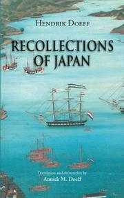 Recollections of Japan by Hendrik Doeff