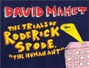 """The Trials of Roderick Spode, """"The Human Ant"""""""