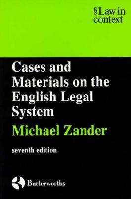 Cases and Materials: On the English Legal System
