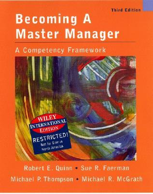 Wie Becoming a Master Manager: A Competency Frame-Work