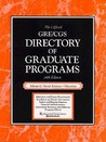 Directory of Graduate Programs, Vol. C: Social Sciences and Education