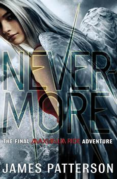 cover of Nevermore by James Patterson shows an angel in grey