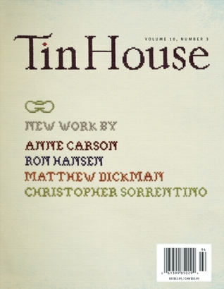 Tin House by Anne Carson