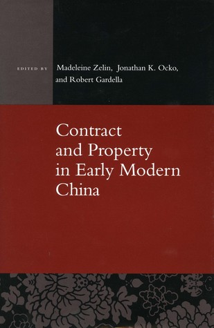 Contract and Property in Early Modern China