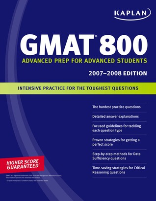 GMAT 800, advanced prep for advanced students