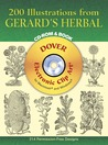 200 Illustrations from Gerard's Herbal CD-ROM and Book