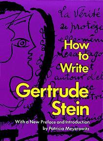How to Write by Gertrude Stein