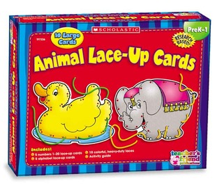 Hands-On Learning: Animal Lace-Up Cards (Scholastic Hands-On Learning)