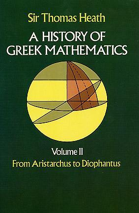 Download free A History of Greek Mathematics, Volume II: From Aristarchus to Diophantus by Thomas L. Heath PDB