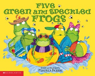 Five Green And Speckled Frogs by Priscilla Burris