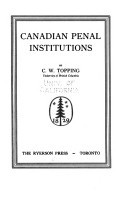 Canadian Penal Institutions
