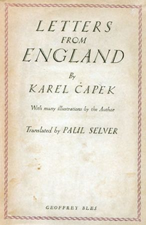 Letters from England by Karel Čapek