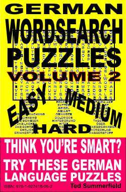 German Word Search Puzzles Volume 2 Ted Summerfield