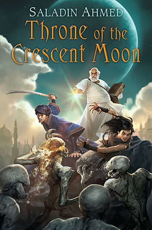 The cover for Crescent Moon, which has very cartoony looking D&D people looking boss