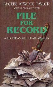 File for Record by Alice Tilton