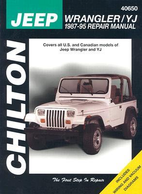 jeep wrangler yj 1987 95 repair manual by chilton. Black Bedroom Furniture Sets. Home Design Ideas