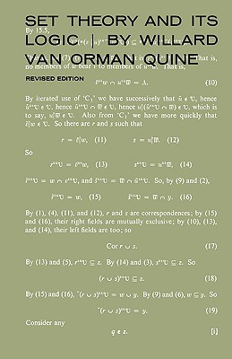Download online Set Theory and Its Logic by Willard Van Orman Quine PDF
