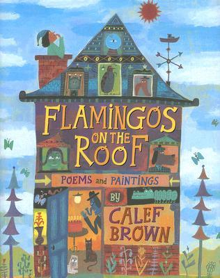 Flamingos on the Roof by Calef Brown