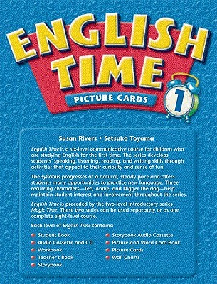 English Time 1: Picture & Word Card Book