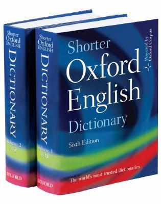 Shorter Oxford English Dictionary With CDROM