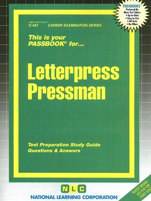 Letterpress Pressman by National Learning Corporation
