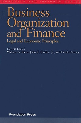 Business Organization and Finance: Legal and Economic Principles