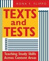 Texts and Tests: Teaching Study Skills Across Content Areas