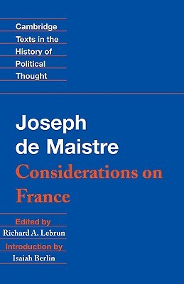 Considerations on France by Joseph de Maistre