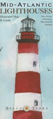 Mid Atlantic Lighthouses Map   Illustrated Guide