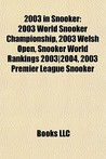 2003 in Snooker