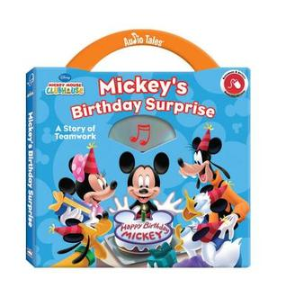 Mickey's Birthday Surprise: A Story of Teamwork [With CD (Audio)]