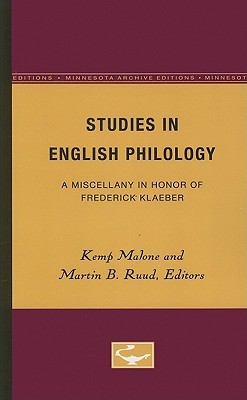 Studies in English Philology by Kemp Malone