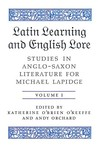 Latin Learning and English Lore (Volumes I & II): Studies in Anglo-Saxon Literature for Michael Lapidge