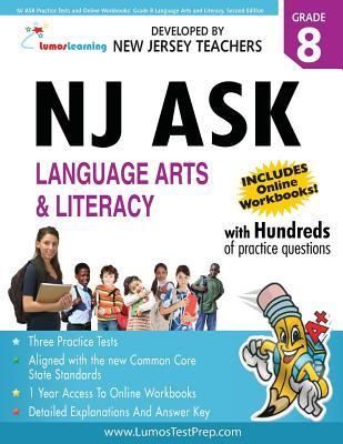 NJ Ask Practice Tests and Online Workbooks: Grade 8 Language Arts and Literacy, Second Edition: Common Core State Standards Aligned