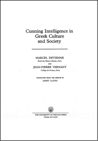 Cunning Intelligence in Greek Culture and Society