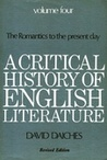 A Critical History Of English Literature 4