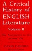 A Critical History of English Literature 2