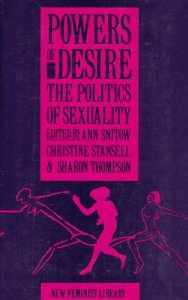 Powers of Desire: The Politics of Sexuality