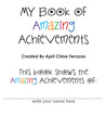 My Book of Amazing Achievements by April Chloe Terrazas