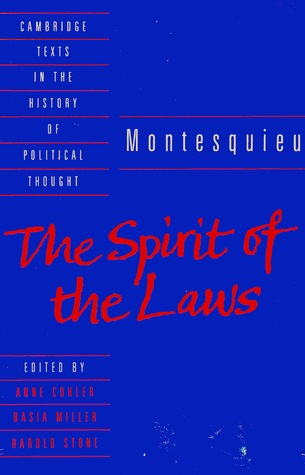 The Spirit of the Laws by Montesquieu