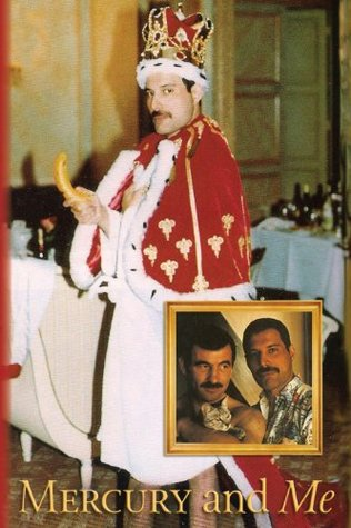 Shows Freddie in a dressing gown, with a crown looking regal on which would later be his stage costume