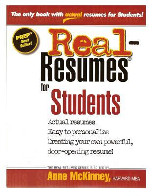 Real-Resumes for Students Anne McKinney
