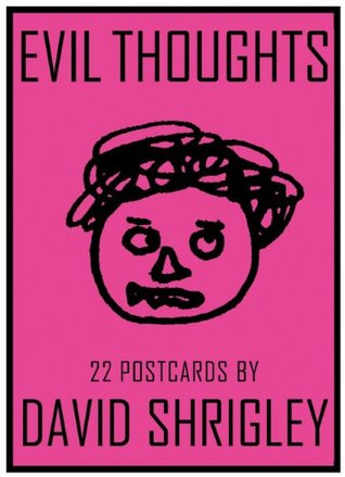 Evil Thoughts Postcard Book by David Shrigley