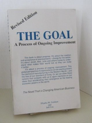 the goal eliyahu goldratt Organizational excellence : book summary: the goal by eliyahu goldratt posted by kevinb on 10/16/13 ( 51830 reads ) my curiosity was piqued when i saw the article entitled  amazon ceo jeff bezos had his top execs read these three books.